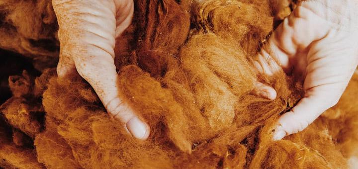 feel material wool